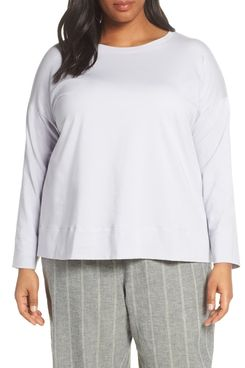 Eileen Fisher Crew-Neck Long-Sleeved T-Shirt (Plus Size)