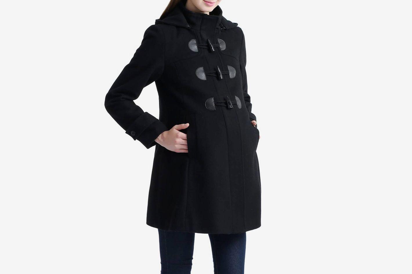 "52dc0574c9059 Kimi + Kai ""Paisley"" Maternity Duffle Coat"