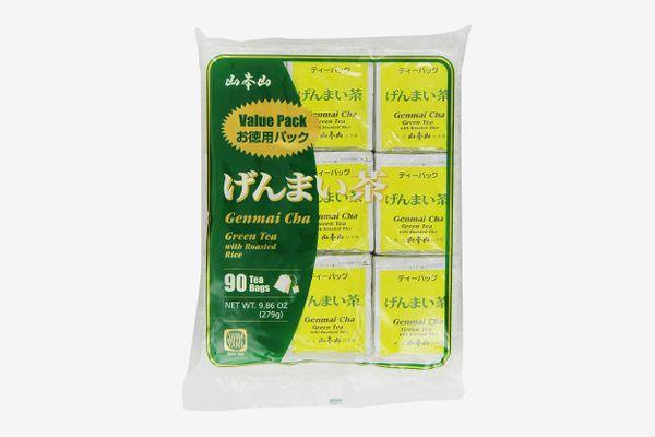Yamamotoyama Genmai Cha Roasted Brown Rice Green Tea, Pack of 90