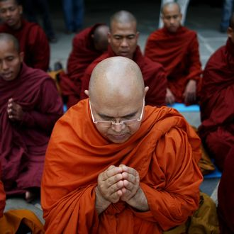 Burmese Monks Fast And Meditate For Cyclone Victims In Myanmar
