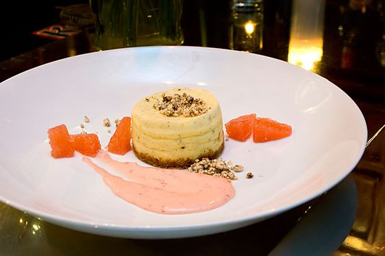 "<b>Vanilla Bean and Green Cardamom Cheesecake With Grapefruit Curd and Coffee Crumble</b>    <a href=""http://vincentchicago.com/"">Vincent</a>    <i>1475 West Balmoral Avenue; 773-334-7168</i>  Chrissy Camba, executive chef at Vincent, initially created this dish for a cocktail-pairing dinner featuring <a href=""http://www.humspirits.com/"">Hum</a>, the locally made botanical liqueur, and it made the regular menu as a result of its popularity. Camba flawlessly integrated cardamom, one of Hum's four major components, into her delicate cheesecake, which comes surrounded by grapefruit curd, jewel-like grapefruit pieces, and crunchy coffee crumble."