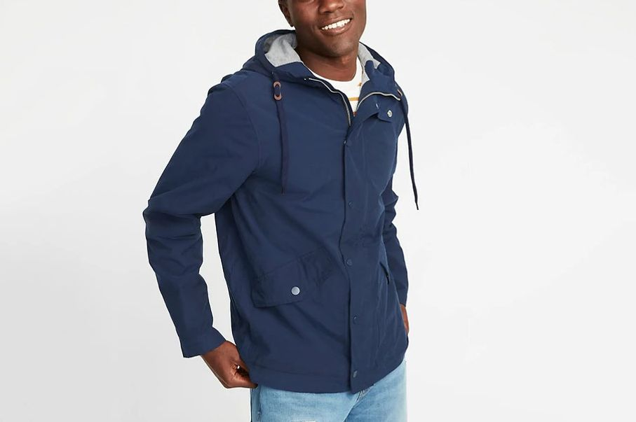 Old Navy Poplin Hooded Anorak