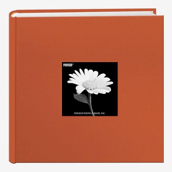Fabric Frame Cover Photo Album, 200 Pockets