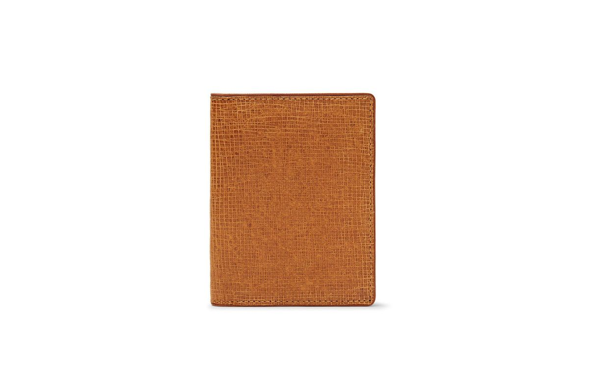 Dries Van Noten Cross Grain Leather Card Holder