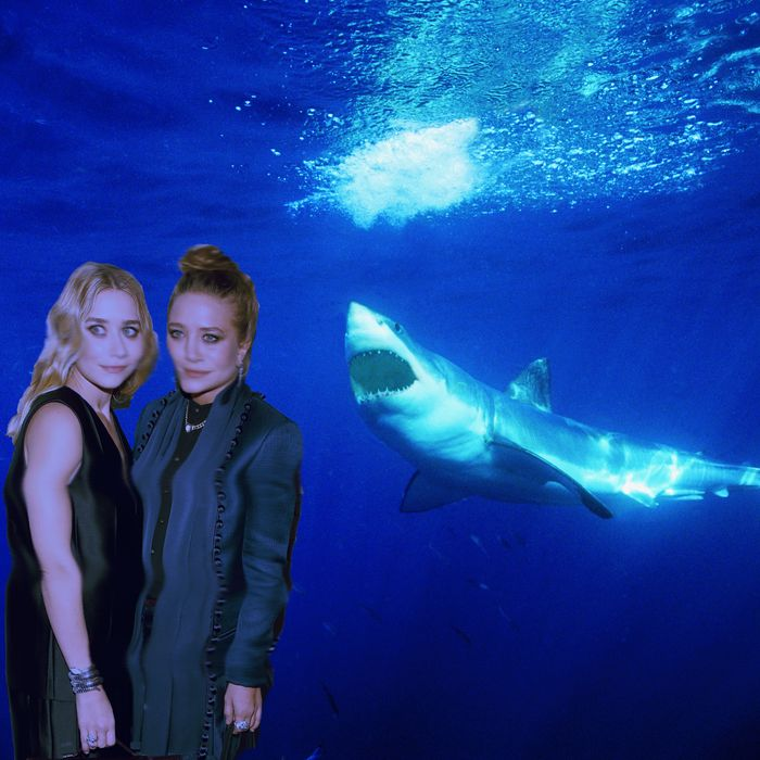 The Olsens + Hirst, immortalized.