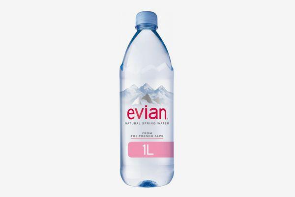 Evian Natural Spring Water, 1.0 Liter