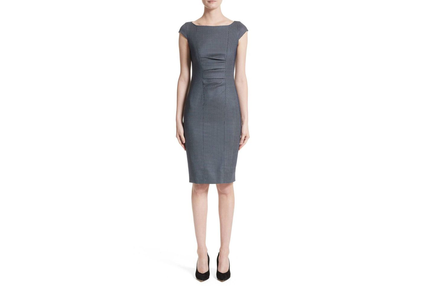 Max Mara Tasso Stretch Wool & Silk Sheath Dress