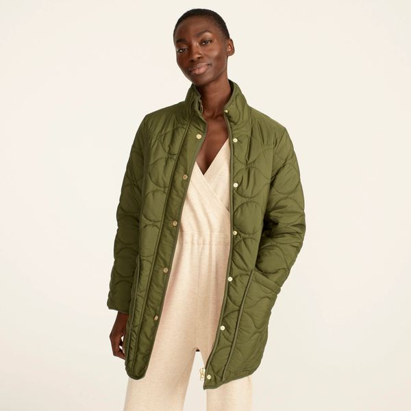 J.Crew Quilted Cocoon Puffer with PrimaLoft