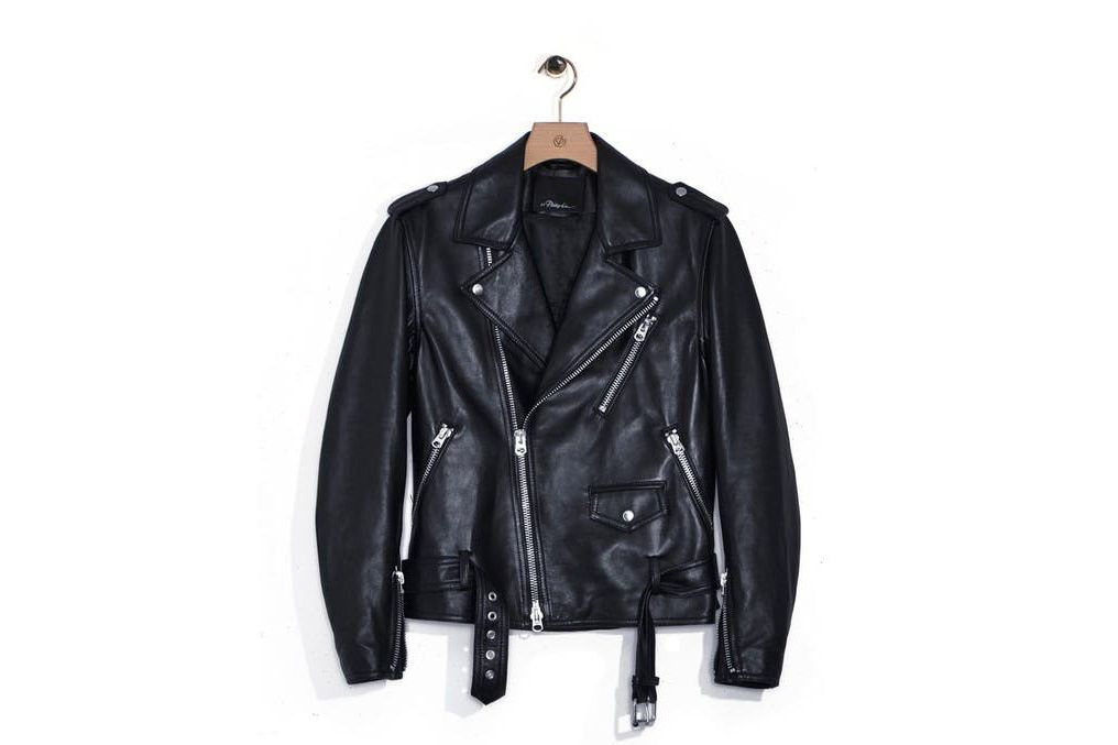 Ryan Gosling's leather jacket is 3.1 Phillip Lim.