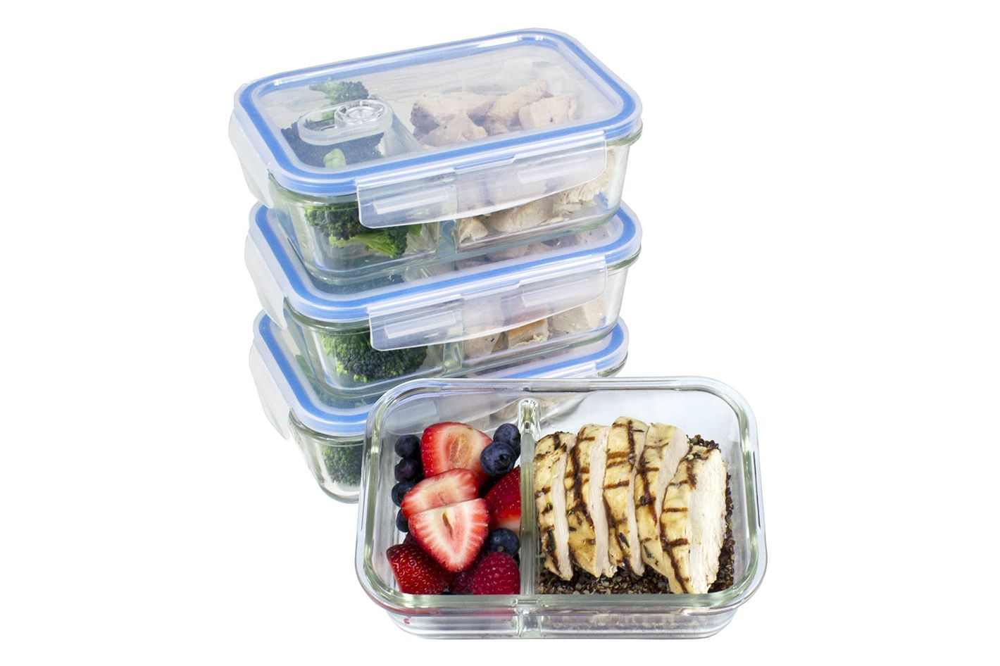 Misc Home 2 Compartment Glass Meal Prep Containers