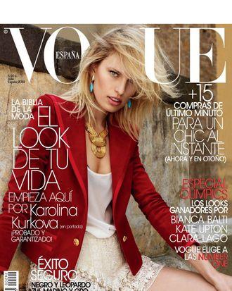 Karolina Kurkova for Spanish <em>Vogue</em>.