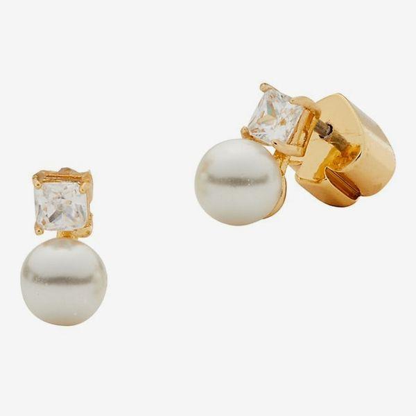 Kate Spade New York Little Gem Imitation Pearl Stud Earrings