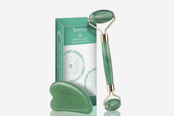 Terresa Jade Roller for Face with Gua Sha Scraping Tool