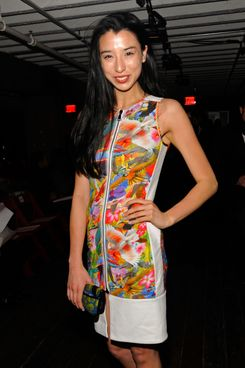 Model Lily Kwong attends the Altuzarra Fall 2012 fashion show