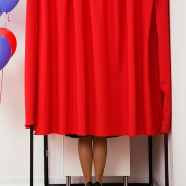 Voting booth --- Image by ? VStock LLC/Tetra Images/Corbis