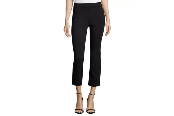 Tory Burch Stacey Ponte Cropped Pants, Black