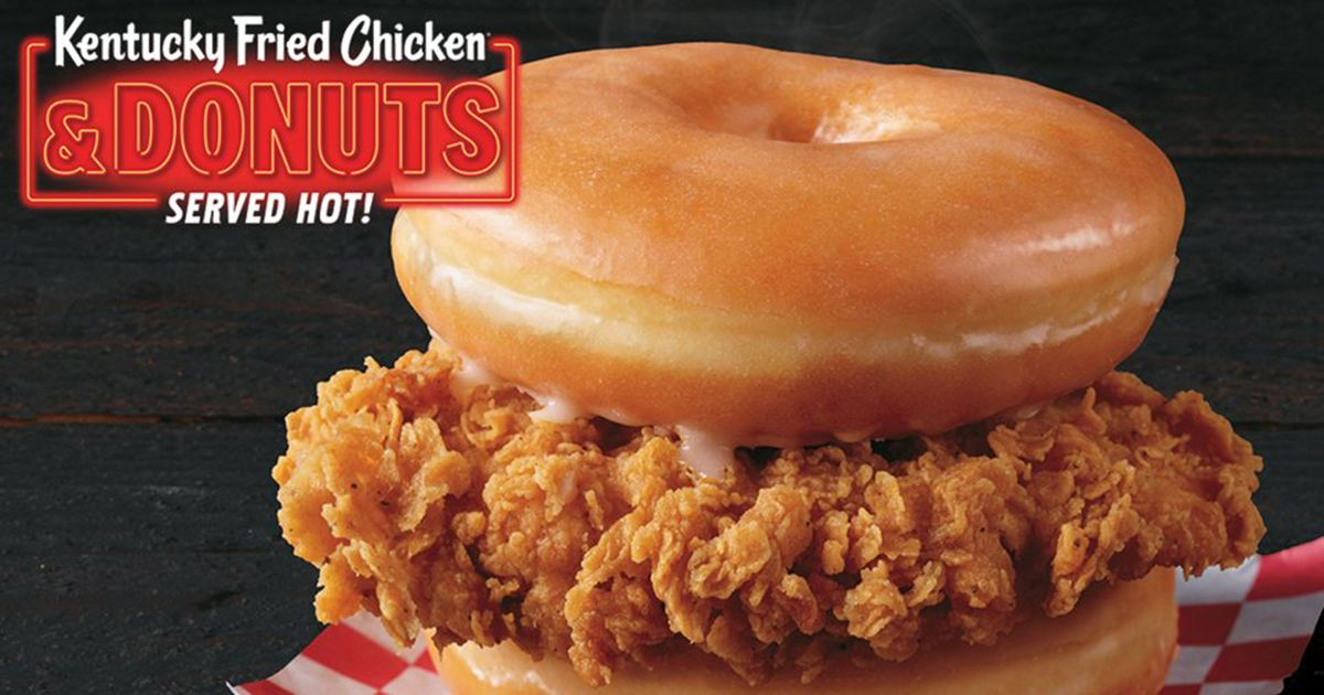 America Continues Free Fall With KFC's Doughnut Chicken Sandwiches