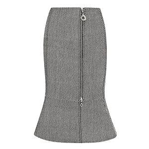 Twill Weave Peplum Skirt