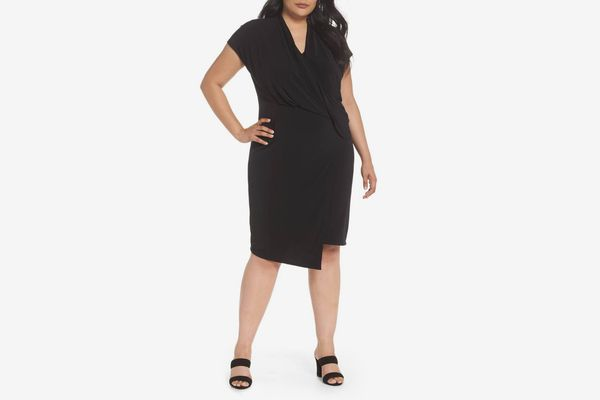 VINCE CAMUTO Cap Sleeve Drape Dress