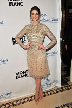 NEW YORK, NY - NOVEMBER 01:  Anne Hathaway attends the Princess Grace Awards Gala at Cipriani 42nd Street on November 1, 2011 in New York City.  (Photo by Stephen Lovekin/Getty Images for Princess Grace Foundation)