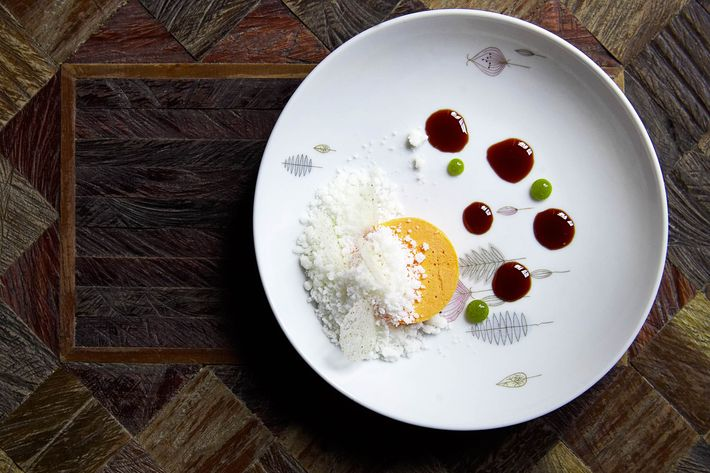 Luksus's carrot parfait is like the love child of cheesecake and panna cotta.