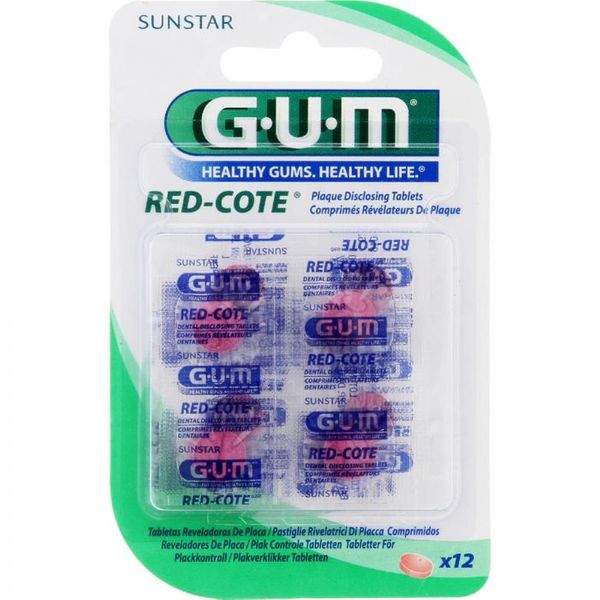 GUM Red-Cote Plaque Disclosing Tablets