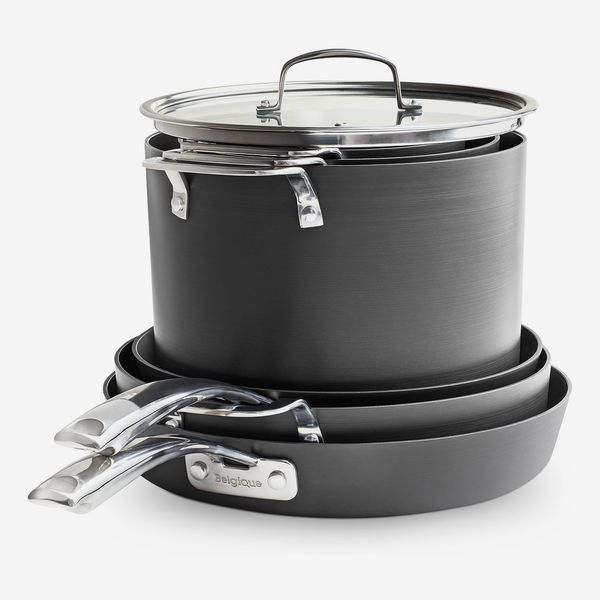 Belgique Stackable 10-Pc. Nonstick Aluminum Cookware Set