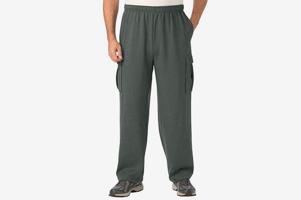 a4e5098c9ff00 KingSize Men s Big   Tall Fleece Cargo Pants
