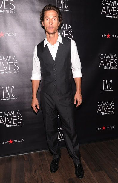 NEW YORK, NY - JULY 26:  Actor Matthew McConaughey attends INC International Concepts Unveils Camila Alves As Brand Ambassador on July 26, 2012 in New York City.  (Photo by Jamie McCarthy/WireImage)