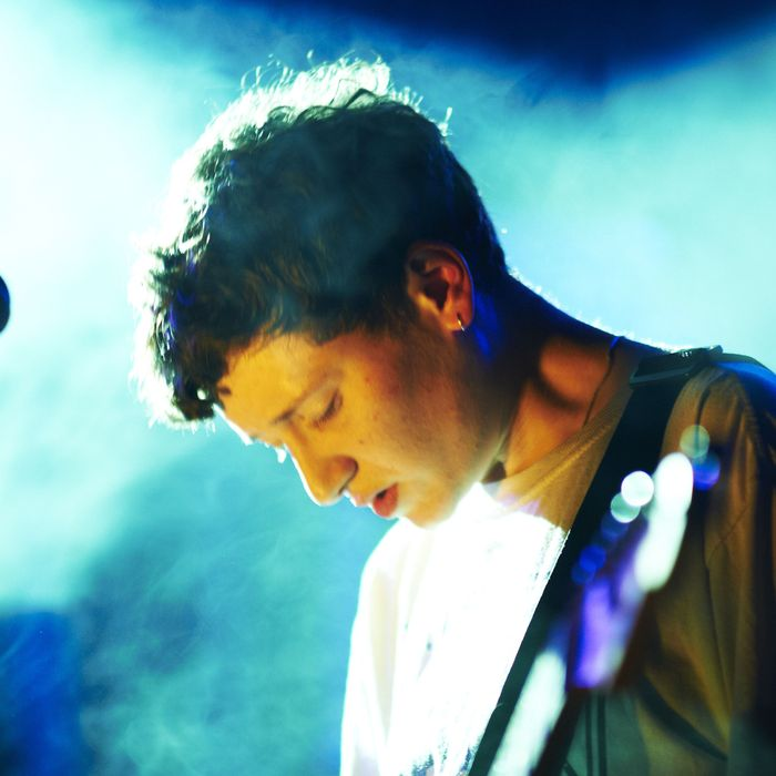 MINEHEAD, UNITED KINGDOM - MAY 15: Micachu of Micachu And The Shapes performs on stage during the final day of ATP Festival curated by Animal Collective at Butlins Holiday Centre on May 15, 2011 in Minehead, United Kingdom. (Photo by Gary Wolstenholme/Redferns)