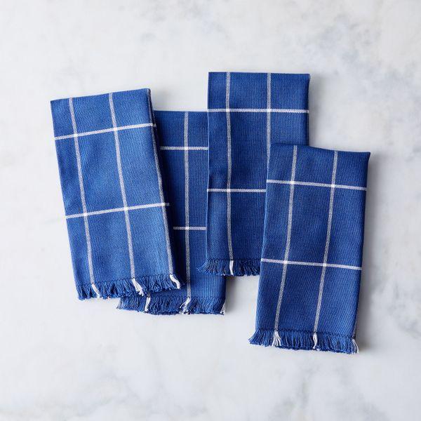 Minna Handwoven Grid Napkins, Set of 4