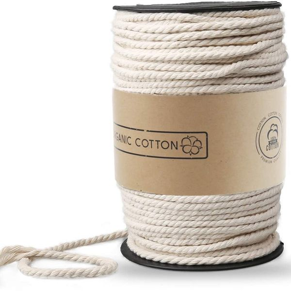 100% Cotton 5 mm Twisted Macramé Rope