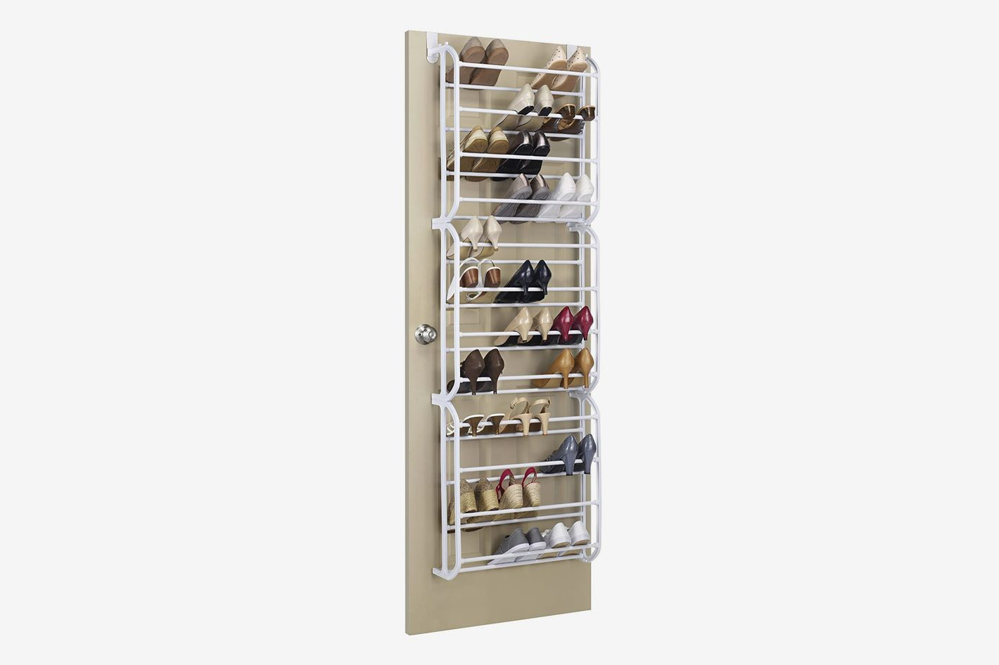 0594d92bce Whitmor 36-Pair Over the Door Shoe Rack