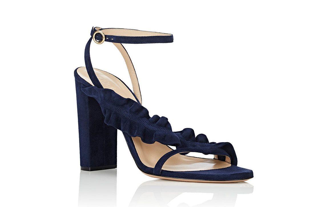 Chloé Asymmetric Ruffle-Strap Sandals