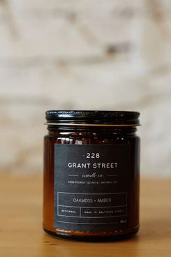228 Grant Street Candle Co. Oakmoss + Amber Amber Jar