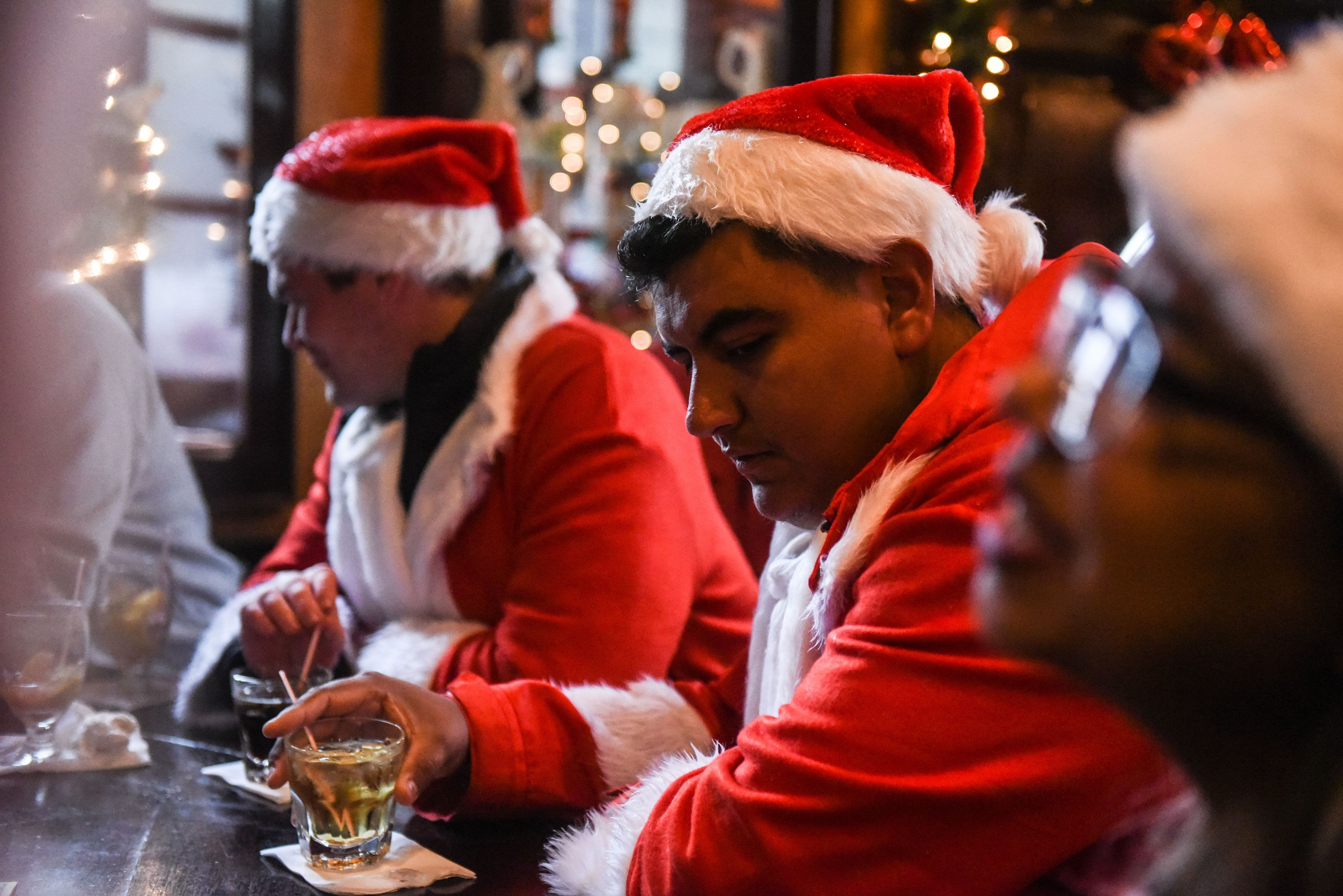Annual Santacon Bar Crawl Takes Place Through New York City