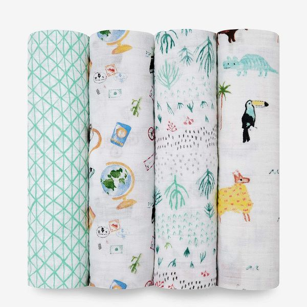 aden + anais Swaddle Blanket, 4 Pack, Around The World