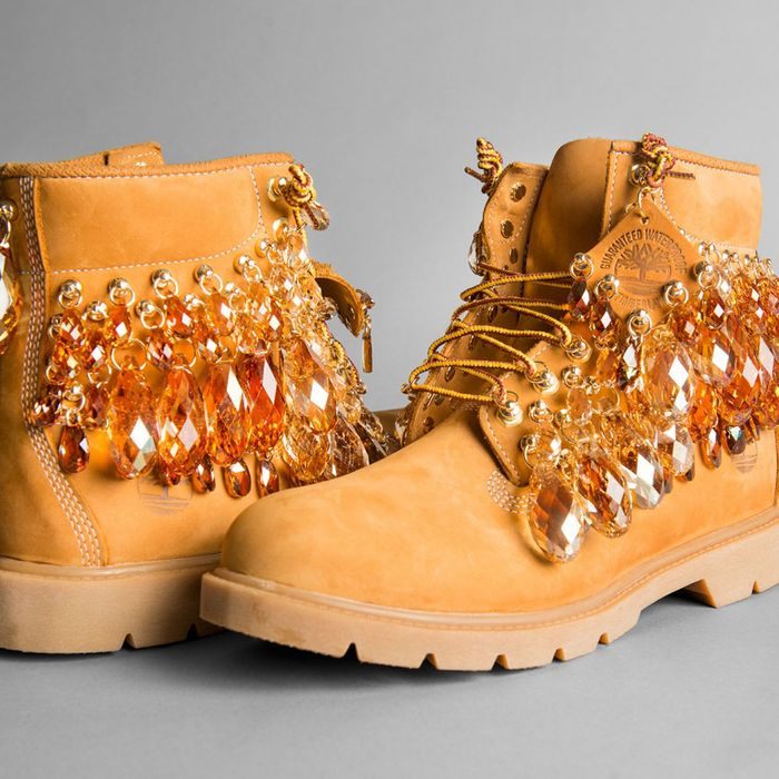 Hood by Air Made These Insane Crystallized Timberlands