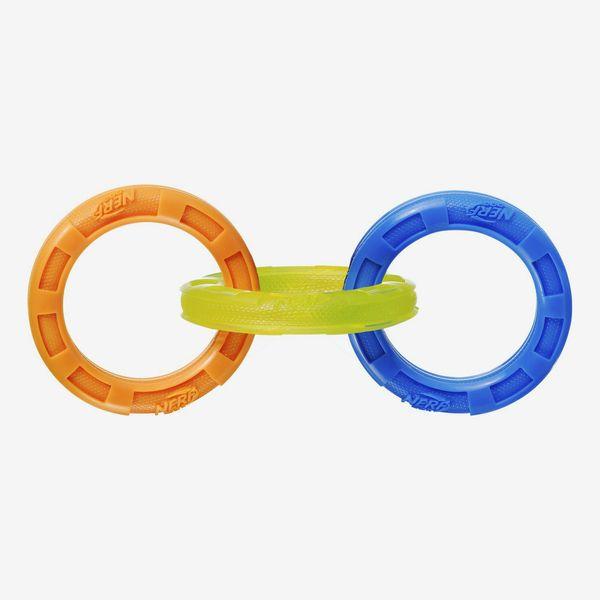 Nerf Dog Tuff Tug 3 Ring Dog Toy (Large)