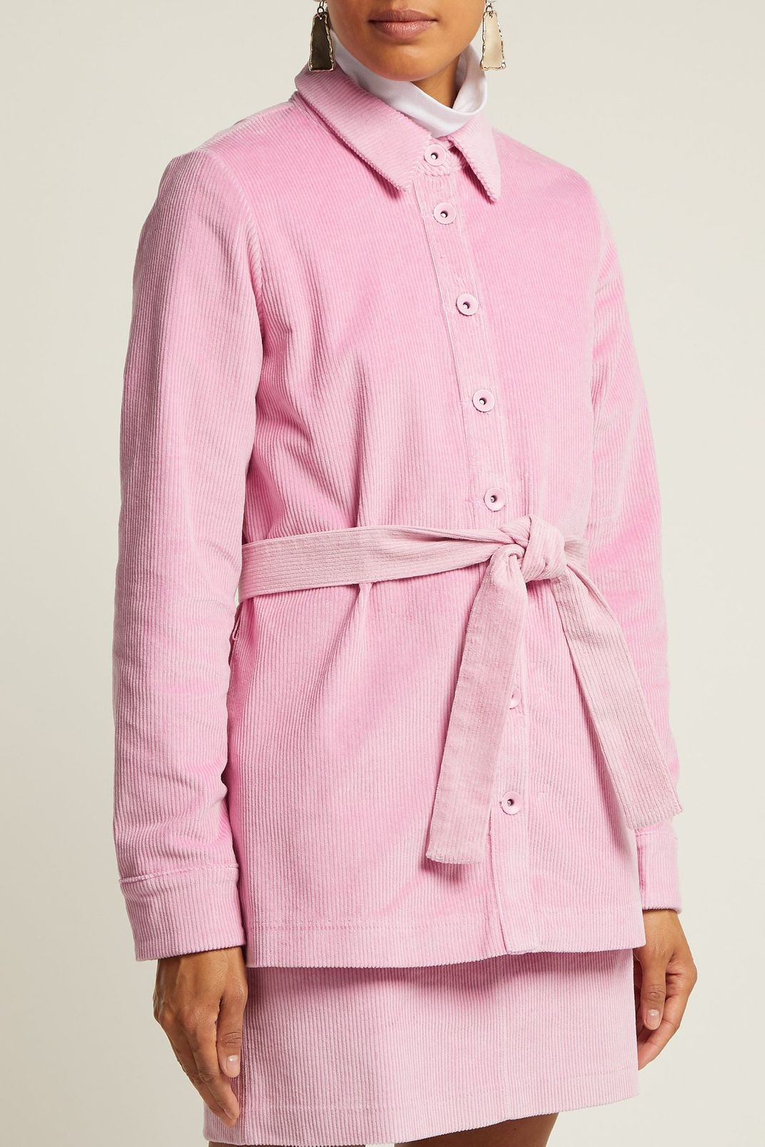 Staud Haley Corduroy Shirt Jacket