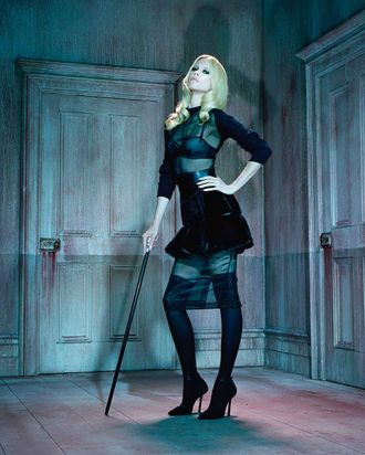 Claudia Schiffer in German <em>Vogue</em>.