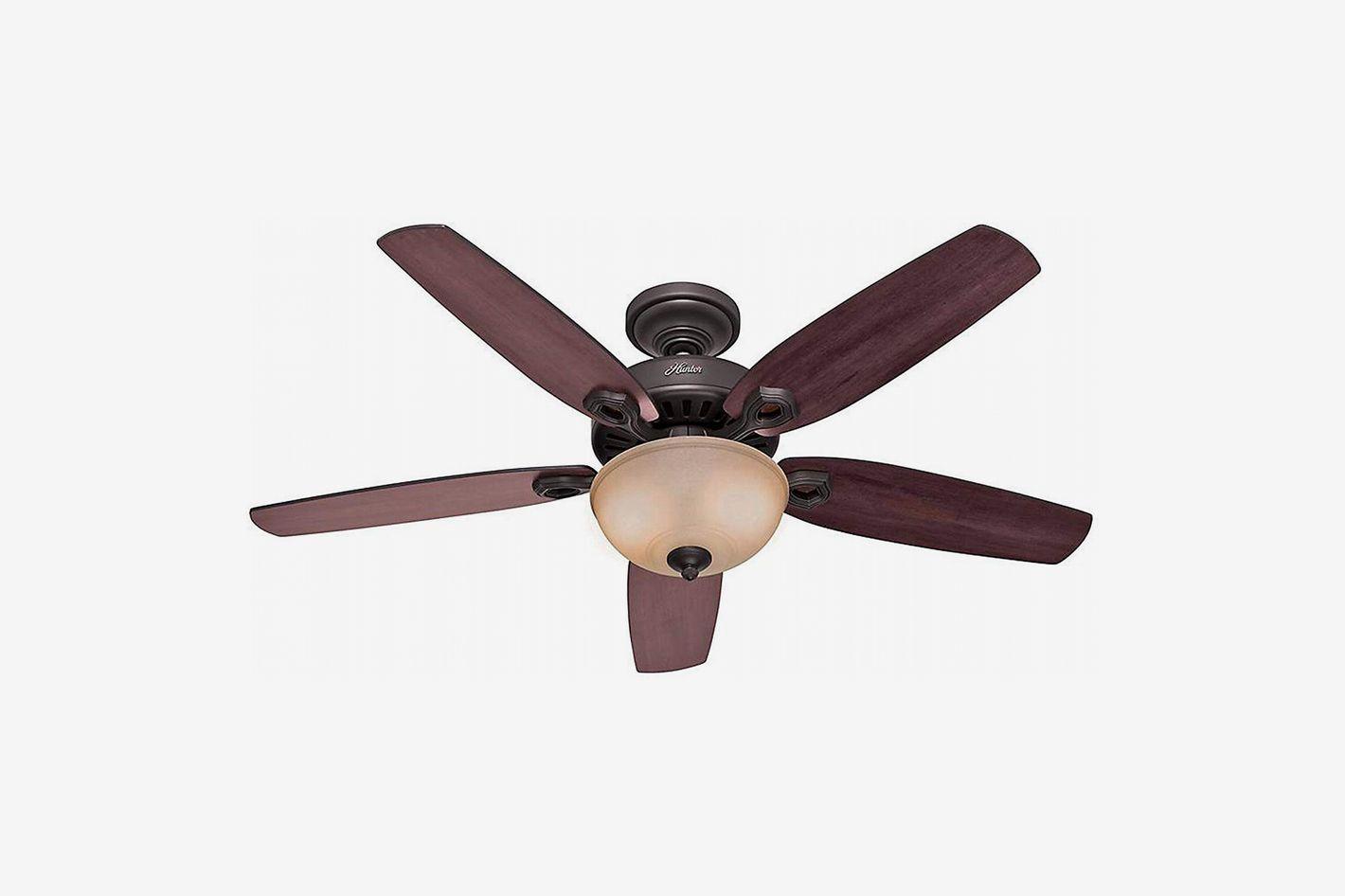 Hunter Fans 53091 5-Blade Single Light Ceiling Fan, New Bronze, 52-Inch