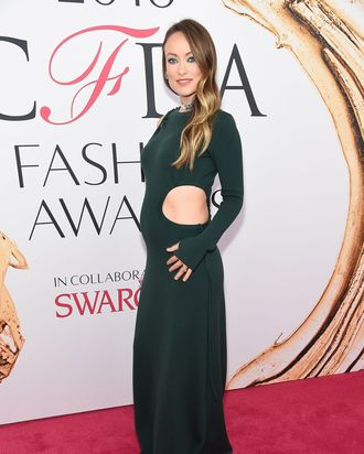 Olivia Wilde at the CFDA Fashion Awards.