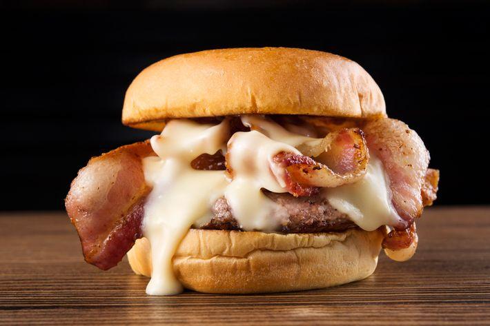 "April Bloomfield's formidable, limited-edition Shake Shack ""Breslin Burger."""
