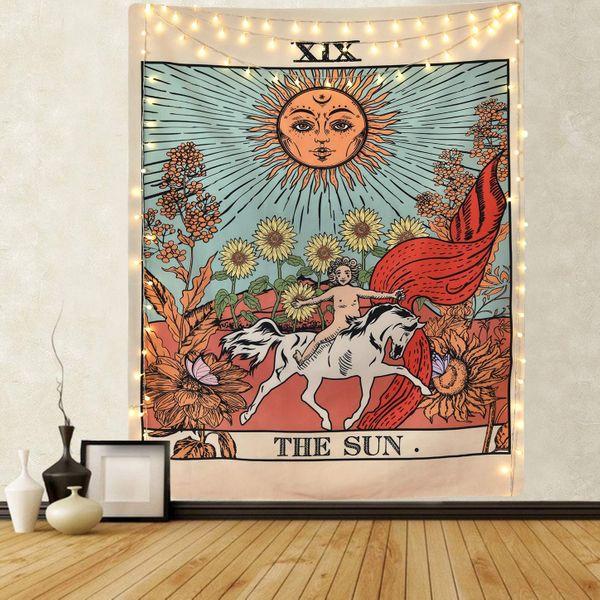 Sevenstars Tarot Tapestry Sun Tapestry Wall