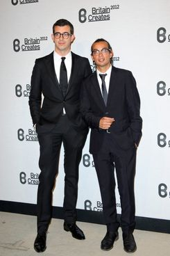 Michael Herz and Graeme Fidler (L) attends Britain Creates 2012: Fashion & Art Collusion  at Old Selfridges Hotel on June 27, 2012 in London, England.