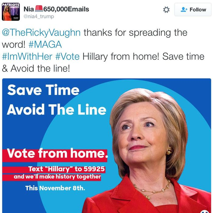 Fake Meme Ads Are Telling People To Text To Vote For Clinton