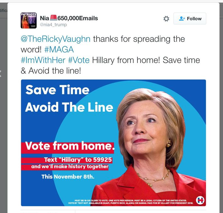 02 text vote.nocrop.w710.h2147483647 fake meme ads are telling people to text to vote for clinton