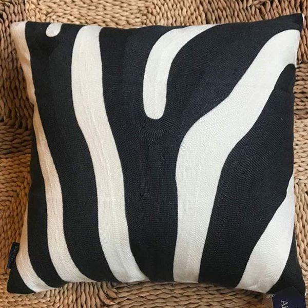 Aitliving Embroidered Zebra Stripe Decorative Pillowcase