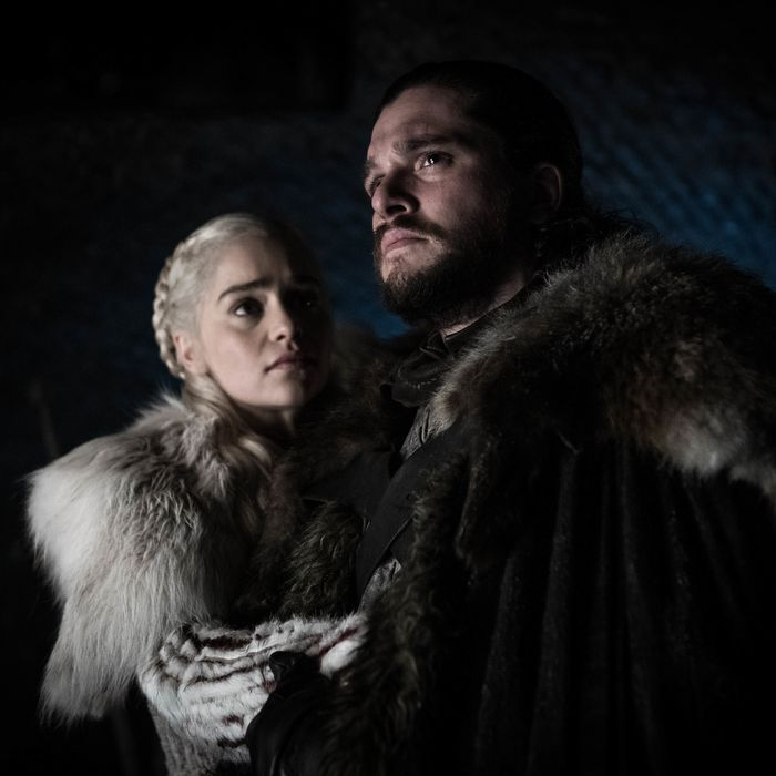 Daenerys and Jon Snow.